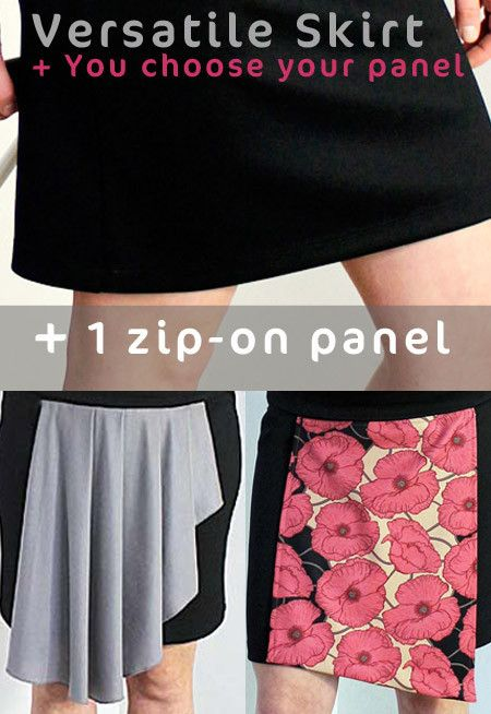 Zippy Skirts Starter pack - 1 Versatile skirt and 1 zip-on panel of your choice at http://www.zippyskirts.com.au - wear as skirt or top and change your panels