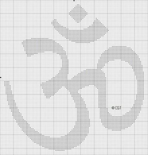 free OM cross stitch pattern
