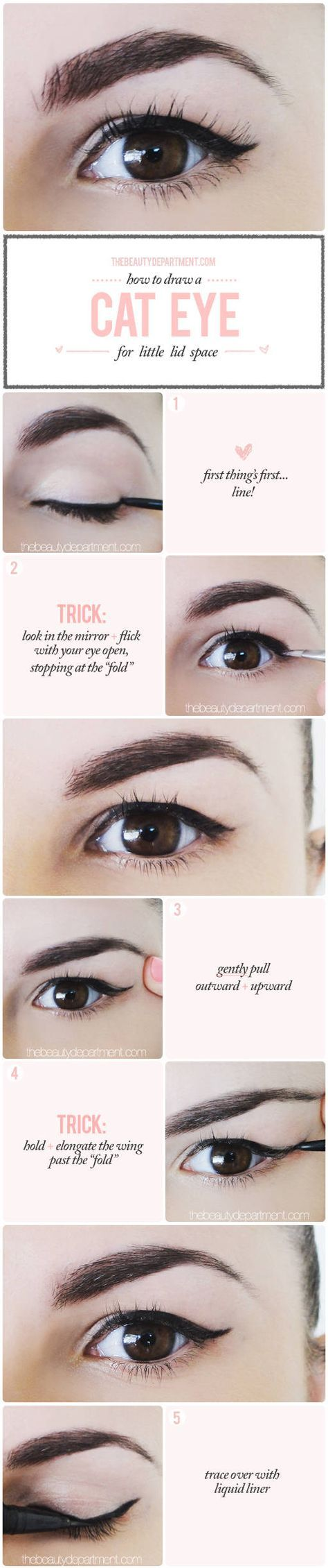 """That's how simple as it is! Winged liner for a """"droopy"""" lid that """"folds"""" where the line goes!"""