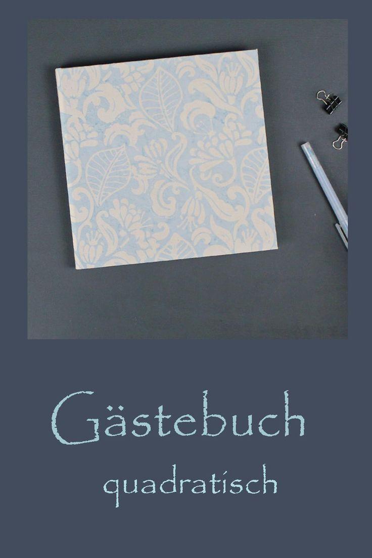 Hellblau Weiss Gemustertes Gastebuch Im Batiklook In 2020 Bucher Batik Und Guestbook