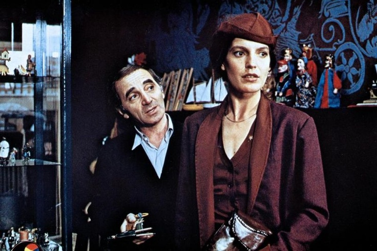 Charles Aznavour and Angela Winkler in Die Blechtrommel by Volker Schlöndorff 1979