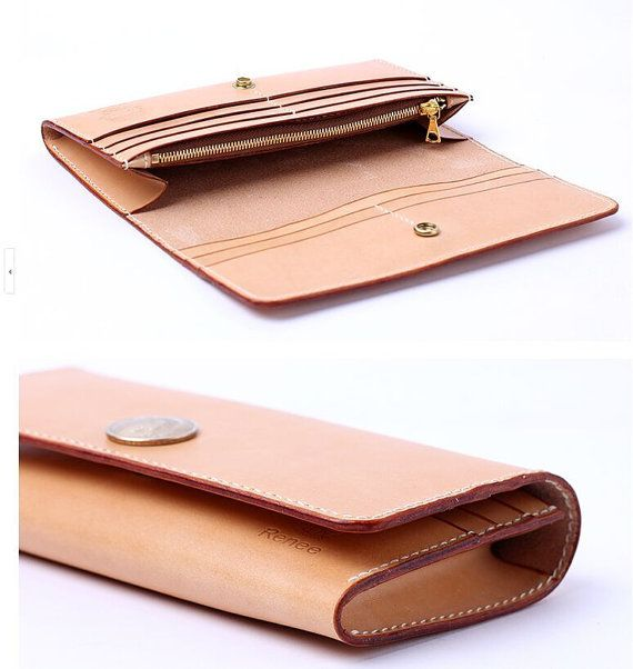 PDF Pattern leather template Long wallet leathercraft DIY