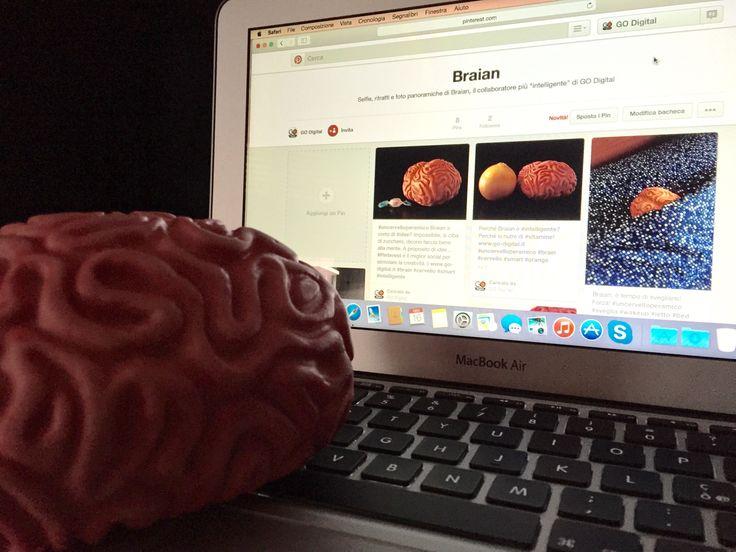 #uncervelloperamico GO Digital è anche su Pinterest! E sì, c'è anche Braian http://www.pinterest.com/godigitalit #brain #cervello #intelligente #smart #social #macbook