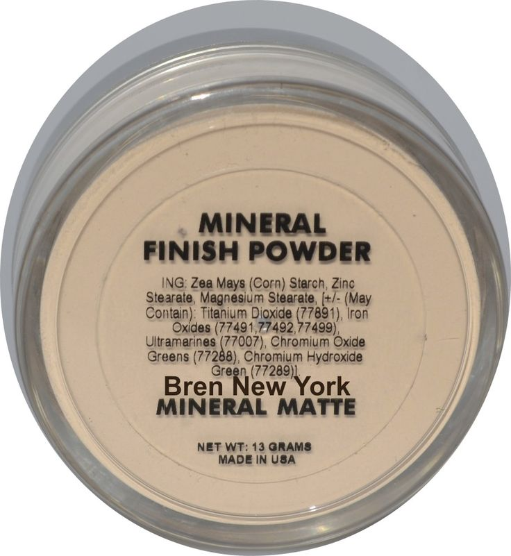Mineral Matte Finishing Powder Paraben Free The final step for a perfect mineral finish! Bren New York Mineral Matte Finishing Powder will take away the shine and minimize the appearance of imperfections such as lines, large pores and even acne blends seamlessly away.