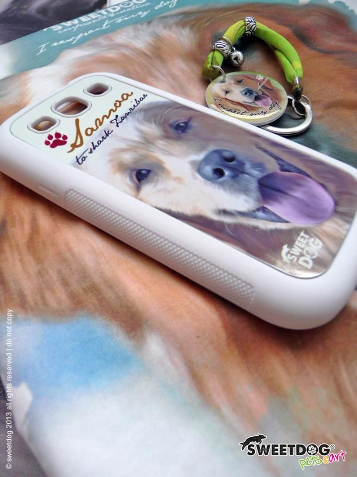 Dog: Samoa - Personalized Samsung S3 cover and key holder -  www.facebook.com/SweetDogStore