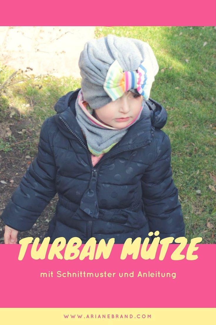 DIY: Turbanmütze für Kinder nähen / inkl. Schnittmuster und Schritt-für-Schritt Anleitung #anleitung #schnittmuster #nähen #kinder #turbanmütze