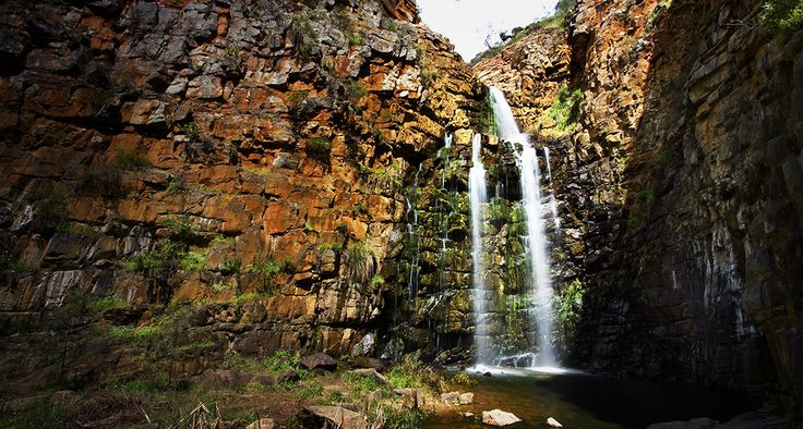 Hiking at Morialta Falls, South Australia