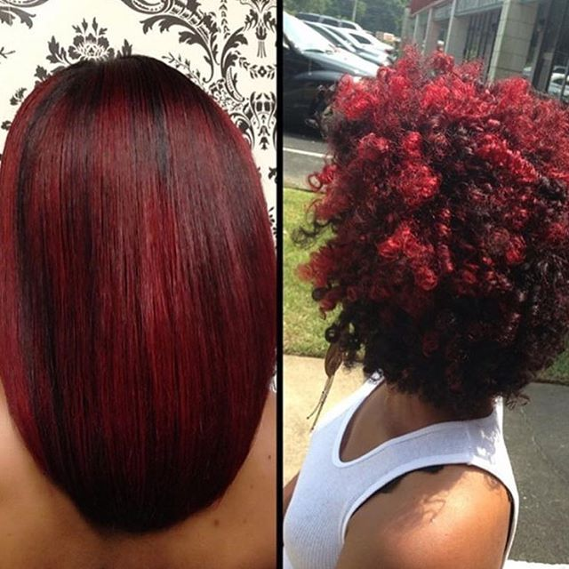 Natural hair versatility by hairbossdivinedesignsbyashley  Love the color  tallahasseehair haircolor redhair redhead tallahasseestylist voiceofhair