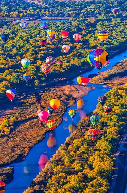 I was in my grandparent's balloon as part of this festival in Albuquerque a million years ago! So much fun!