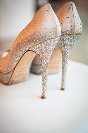 Sparkling Champagne Jimmy Choo Heels