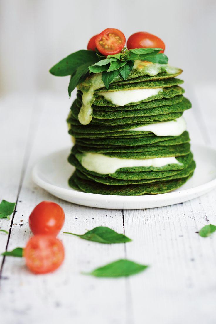 Green pancakes.