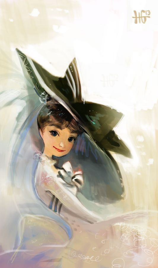 Speedpaint of Audrey Hepburn in one of her many fabulous outfits