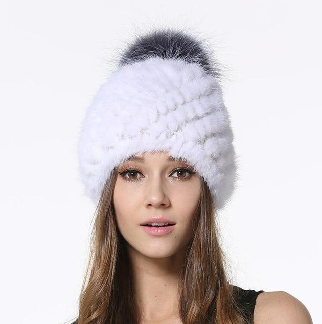 Silver Fox Fur Viking Hat with Woven Dark Grey Knit Top --- Scandinavian/Norse/Norway/Sweden/Faux Fur/Knitted/Winter/Headwear/Cap NHa0Zqh