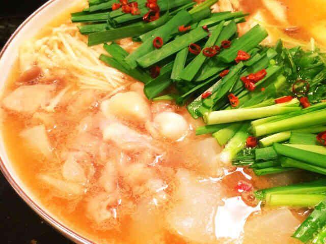 スープは手作りが1番♡私のモツ鍋の画像