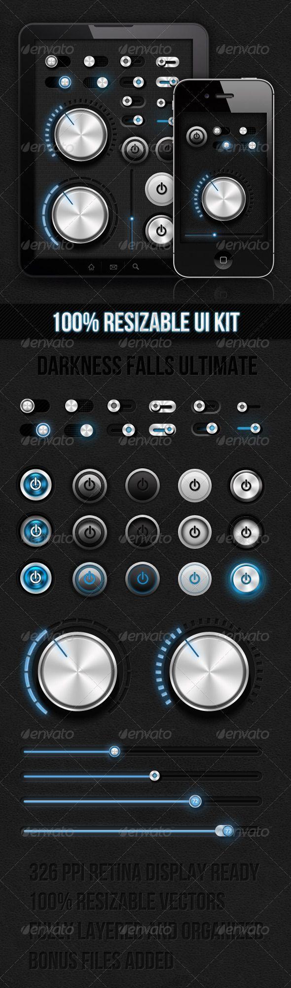 Dark Ui Kit - Darkness Falls Ultimate - #User #Interfaces #Web Elements Download here: https://graphicriver.net/item/dark-ui-kit-darkness-falls-ultimate/2446720?ref=alena994