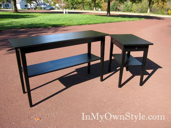 Painting Furniture With Black Stain Instead Of Black Paint