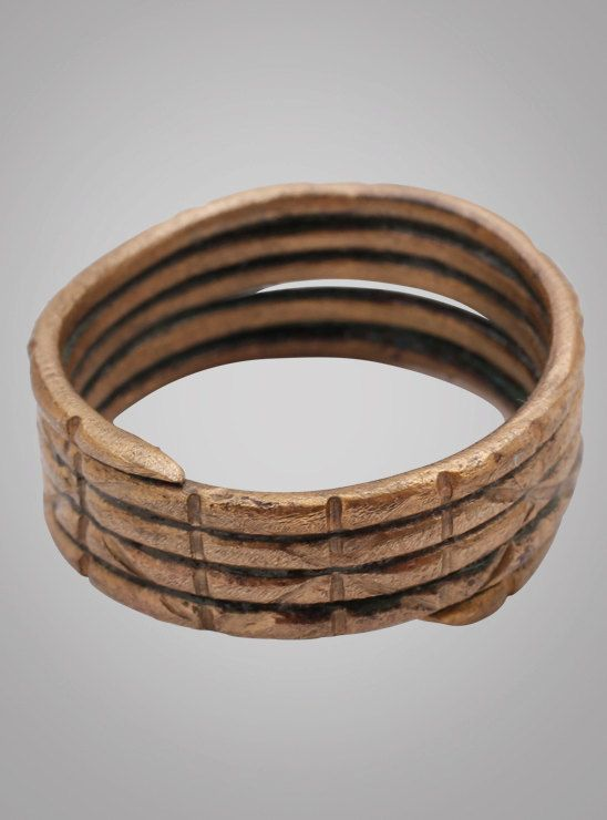 Fantastic Ancient Viking Warriors Coil Ring C.866-1067A.D. Size 10 1/2 20mm (BRR711) Antique Vintage
