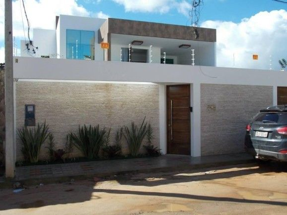 Fachada de muro para casas modernas e acolhedoras.
