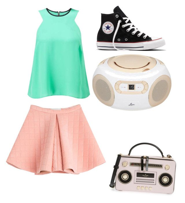 Better when I'm dancing yeah yeah by rimalee on Polyvore featuring polyvore, fashion, style, Miss Selfridge, Marina Hoermanseder, Converse, Kate Spade, Lava and clothing