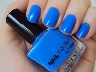 H & M cobalt nail polish