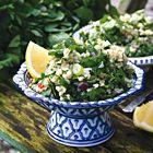 Tabouleh met verse kruiden, als salade of bijgerecht