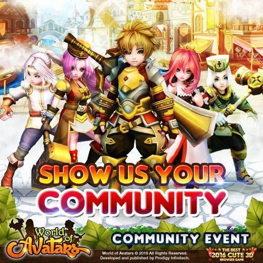 Worldof Avatars event Community. Yuk, login bareng guild dan teman-teman setiamu. Jadikan avatars sejati!