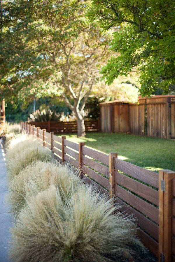 Gartenzäune holzlack natur Holz ideen