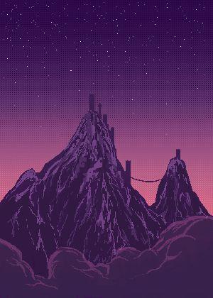 Purple Hills Night Sky.