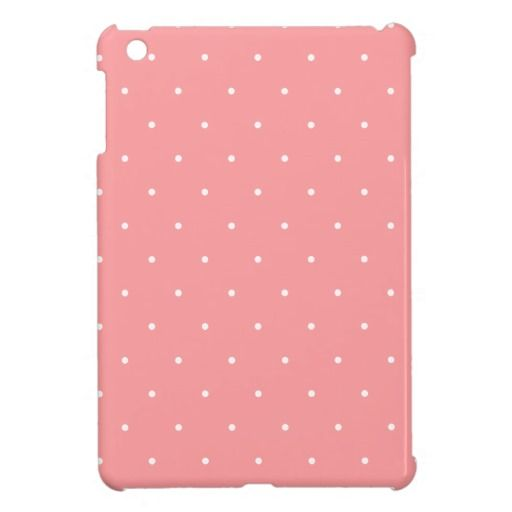 Pretty Coral and White Polka Dots Gift iPad Mini Covers  #ipadcase #ipadminicase #pinkipadmini #pinkipadcover #ipadmini #pink #pinkpolkadots #polkadots #dotty #spotty #prettypink #girly #giftforher #sweet #pretty #cute