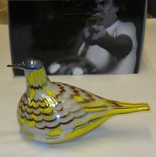 Oiva Toikka Yellow Art Bird Metsatylli Stockmann Nuutajarvi Finland Limited Edit