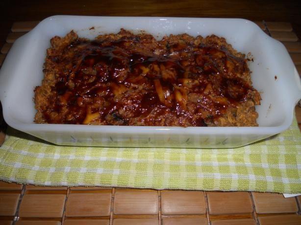 Glaze for Lentil Meatloaf  1/3 cup ketchup 1 tablespoon brown sugar 2 tablespoons balsamic vinegar