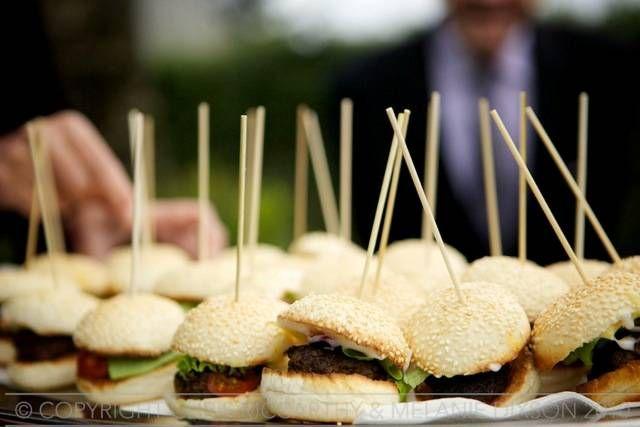 Mini burger canapes - American!