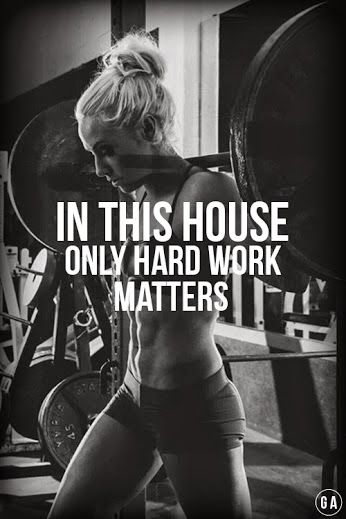 If you want it - you have to work for it!!!