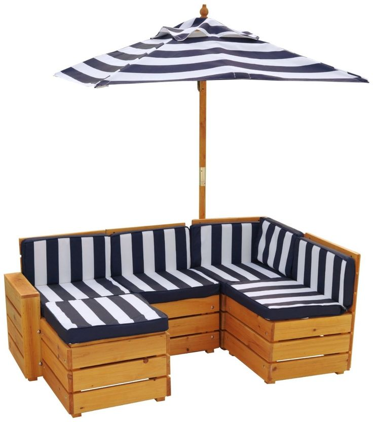 Exterior decoraci n y muebles con palets de madera for Kids outdoor furniture