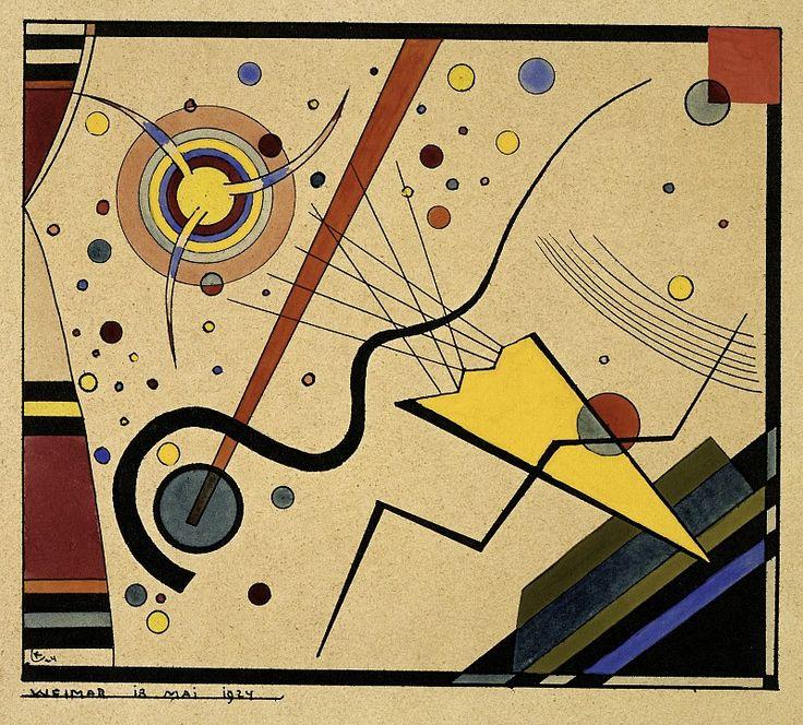 Wassily Kandinsky, Untitled (from the portfolio for Walter Gropius), 1924 / Bauhaus-Archiv Berlin © VG Bild-Kunst (Royalties Collection Society), Bonn