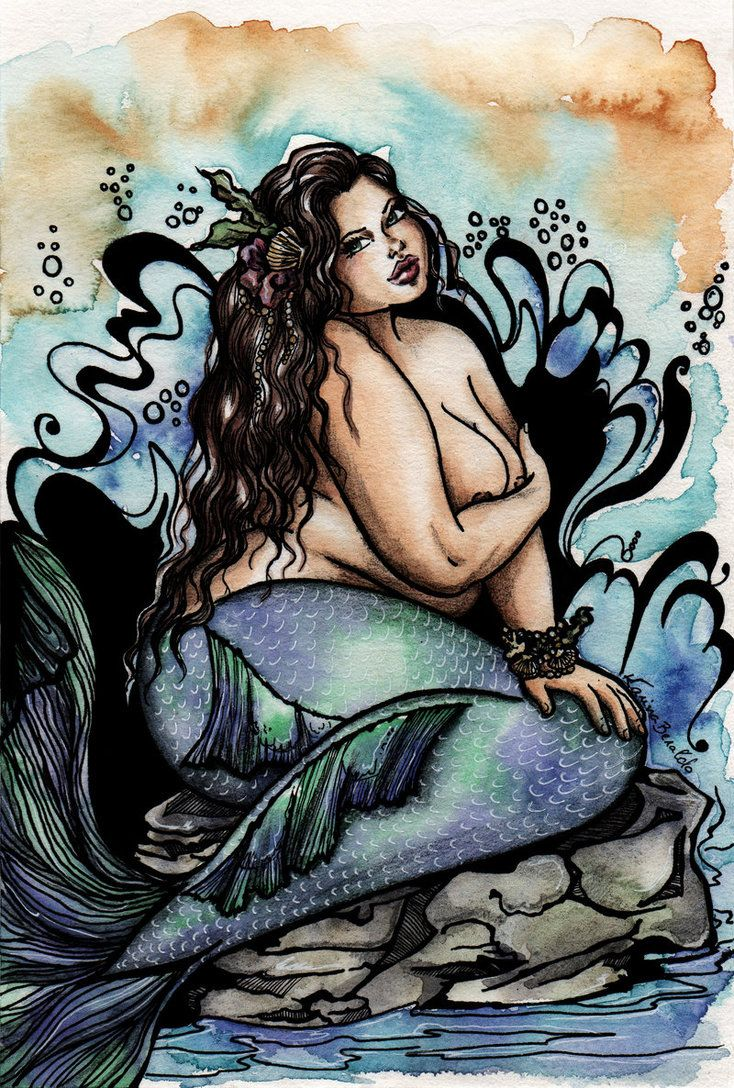 Plus Size Mermaid Blue by kaberaldo