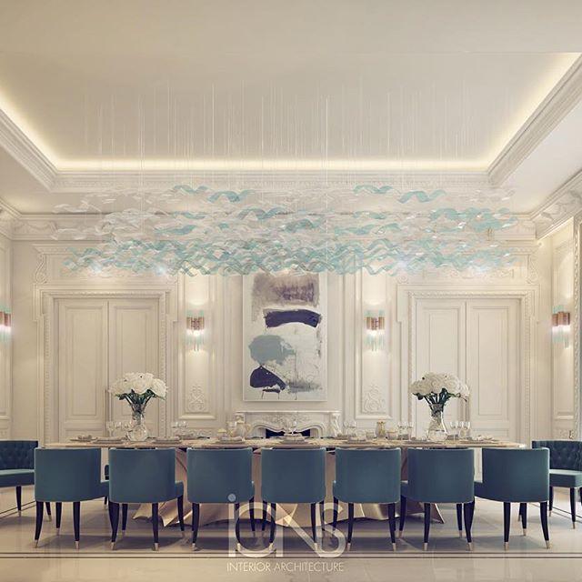 Private palace interior design | dining room design  #الدوحه #doha #qatar…
