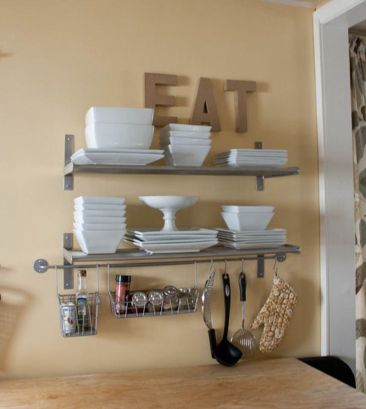 More Like Home: Kitchen Shelves Grundtal And Bygel Rails Mixed For Open  Storage Look!
