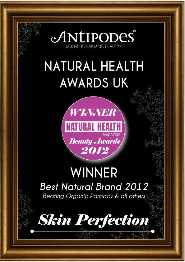 Natural Health Beauty Award Winner  Best Natural Brand 2012