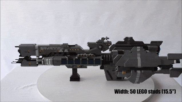 There might not be official Halo LEGO sets, but with its size, builder Nick Brick's fan-build of the UNSC Savannah from Halo: Reach probably would be the crown jewel of such a series.