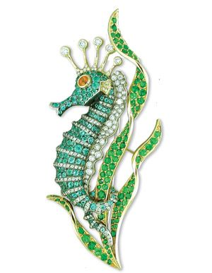 """Seahorse ... """"The Avatar movie was also evocative for jeweler Martin Katz, who recognized the underwater inspiration behind its creatures and colors."""""""
