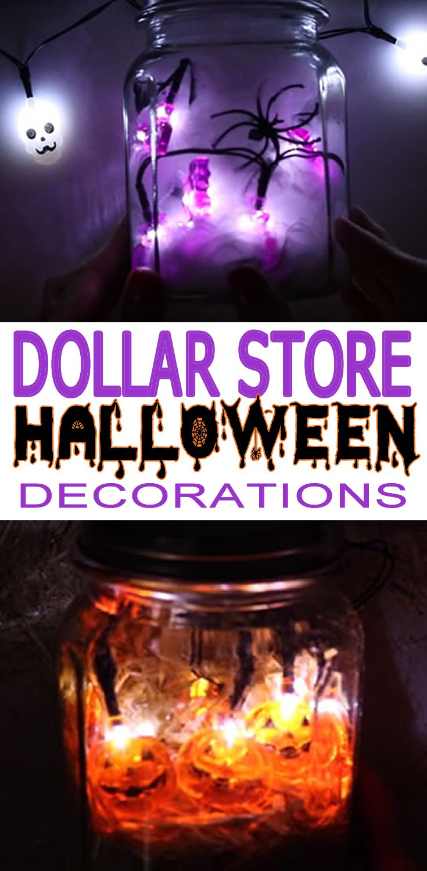 Dollar Store Halloween Decorations Easy Diy Scary Mason Jar
