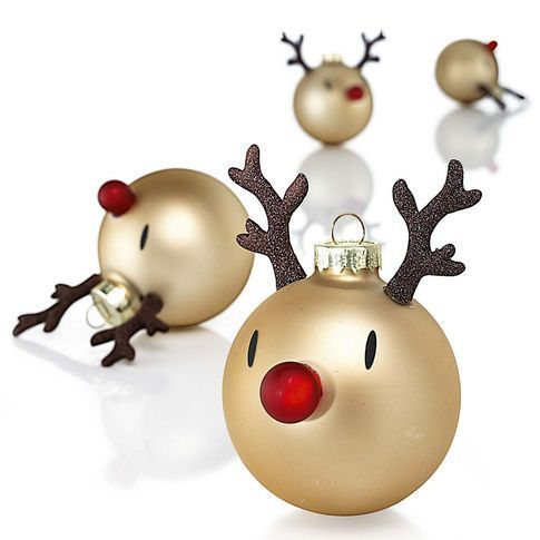 Cute reindeer Christmas ornaments! These are so easy to make, and look great!
