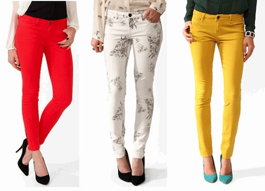 Colored jeans are just one of the top 2013 spring summer fashion trends.  http://suite101.com/a/hottest-springsummer-2013-trends