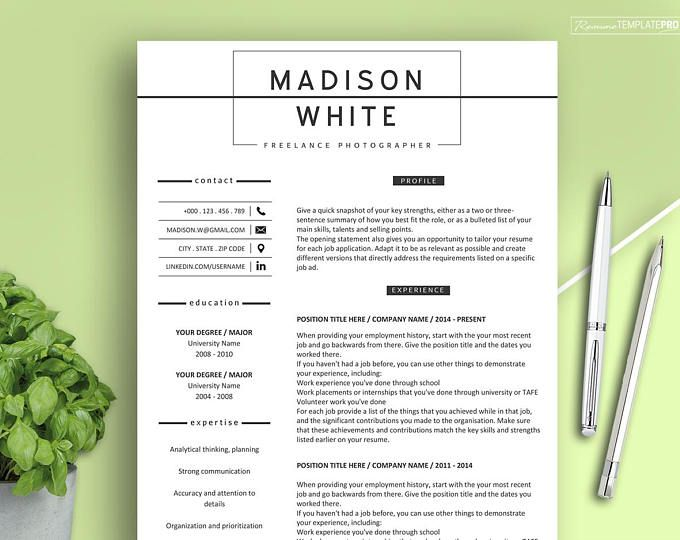 The 25+ best Modern resume template ideas on Pinterest Modern - resume for word
