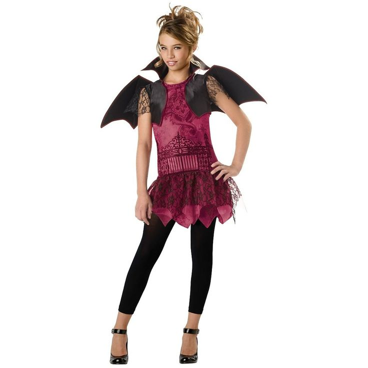 Girls Vampire Costume Tween Kids Vampiress