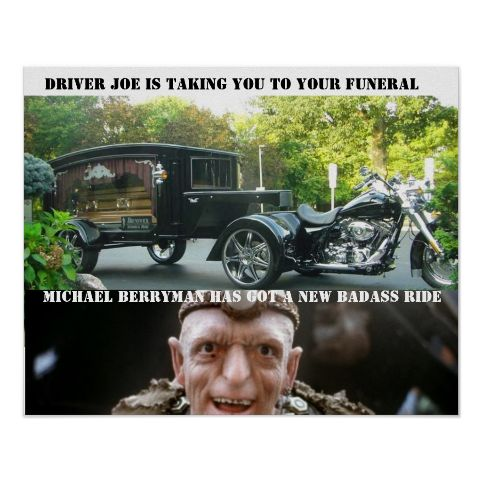 Michael Berryman's Motorcycle Hearse from the movie, DEAD afterlife.