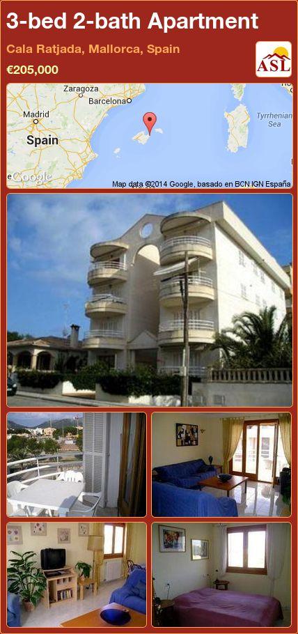 3-bed 2-bath Apartment in Cala Ratjada, Mallorca, Spain ►€205,000 #PropertyForSaleInSpain