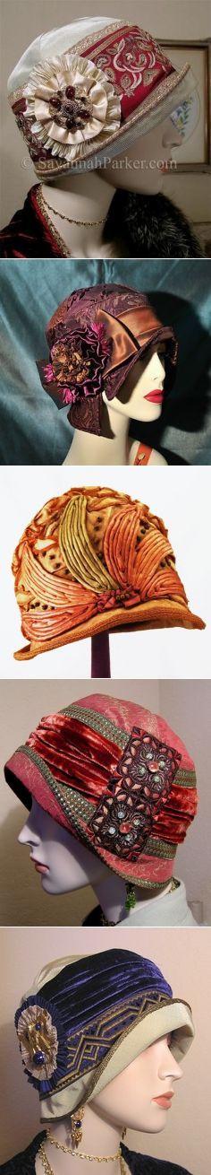 Прекрасные шляпки 20-х годов прошлого века.
