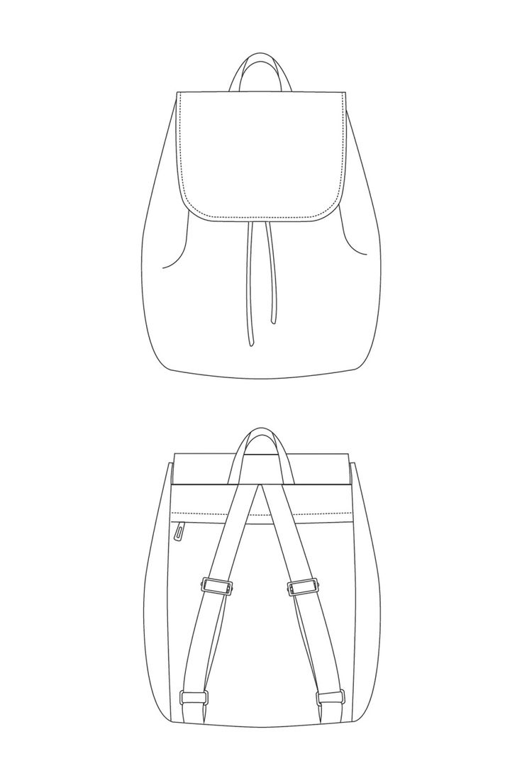 The London Backpack sewing pattern by LBG Studio. WATER RESIST MATERIALS, DROP DOWN REFLECTIVE FLAG for BIKE